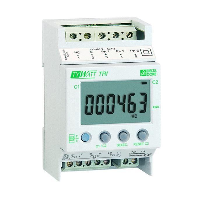 indicateur de conso pour compt triphase achat vente thermostat d 39 ambiance cdiscount. Black Bedroom Furniture Sets. Home Design Ideas
