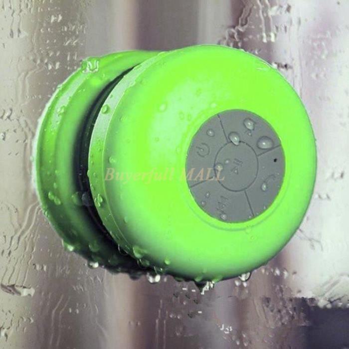 Enceinte haut parleur bluetooth avec micro int gr tanche for Haut parleur etanche pour piscine