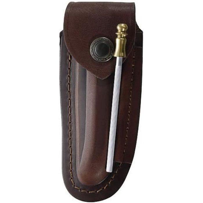 tui en cuir pour couteau laguiole avec 12 cm avec fusil 10 cm achat vente bloc couteau. Black Bedroom Furniture Sets. Home Design Ideas