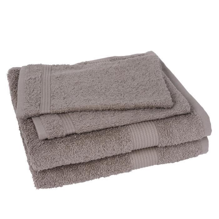 Lot de 2 serviettes et 2 gants fairtrade sable achat vente serviettes de bain cdiscount - Lot de serviette de bain destockage ...