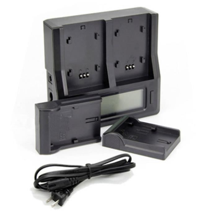 Dual Lcd Battery Charger Pour Np F550 Np F570 Np F750 Np