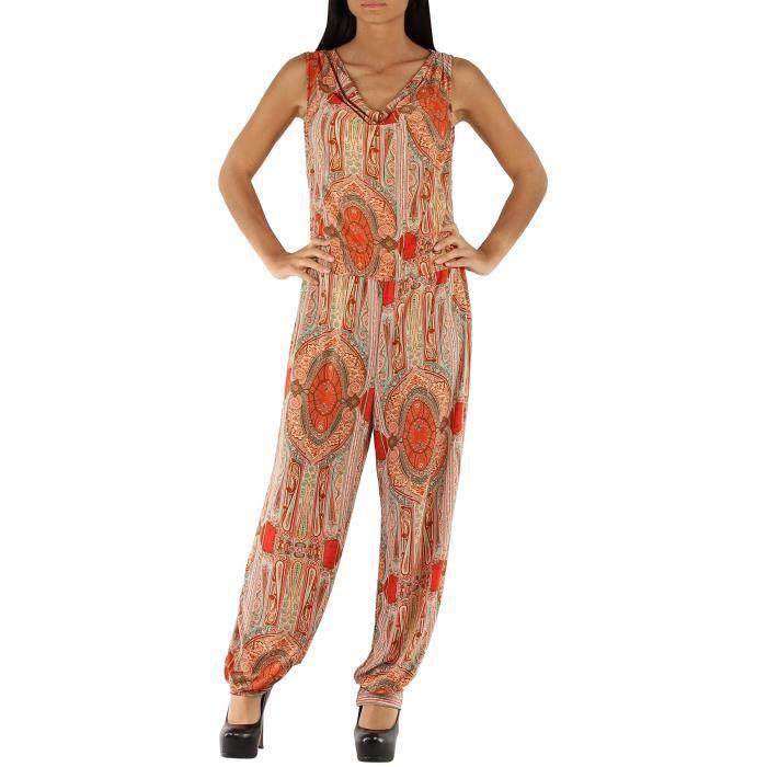 pantalon imprim femme combinaison floral sarouel fluide ensemble t orange taille s m orange. Black Bedroom Furniture Sets. Home Design Ideas