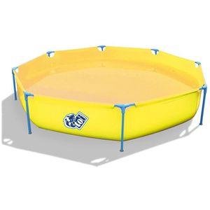 BASIC Piscine octogonale en PVC pour enfant 300x55cm - Jaune