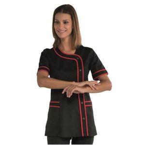 blouse de travail noire femme achat vente blouse de. Black Bedroom Furniture Sets. Home Design Ideas