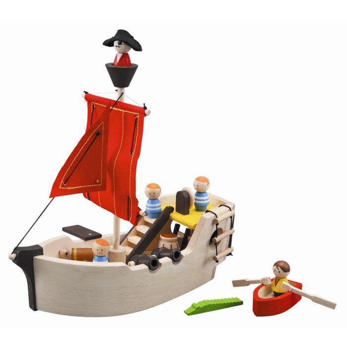 PLAN TOYS - 6105 - Le bateau pirate complet