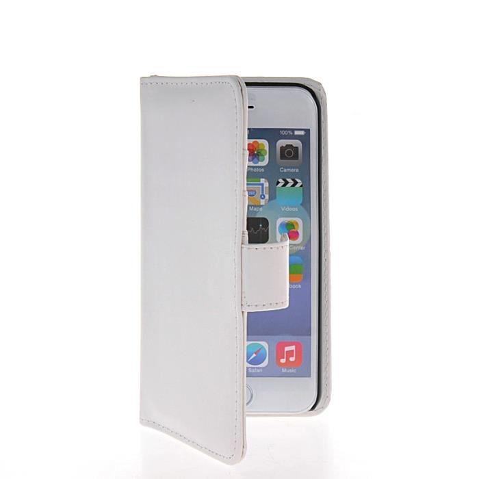 mooncase 201 tui 224 rabat housse de protection coque en cuir portefeuille pour apple iphone 6
