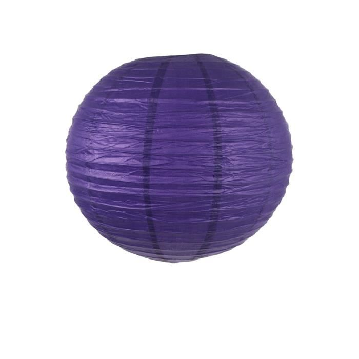 lanterne boule papier color violet achat vente. Black Bedroom Furniture Sets. Home Design Ideas