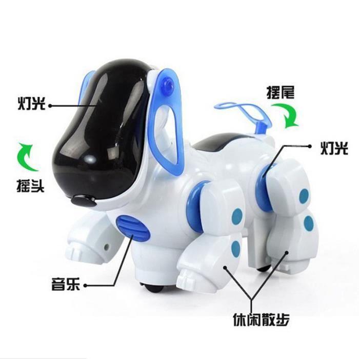 walking robot animal de compagnie chien chiot b b jouet cadeau avec jouets pour chiens lumi re. Black Bedroom Furniture Sets. Home Design Ideas