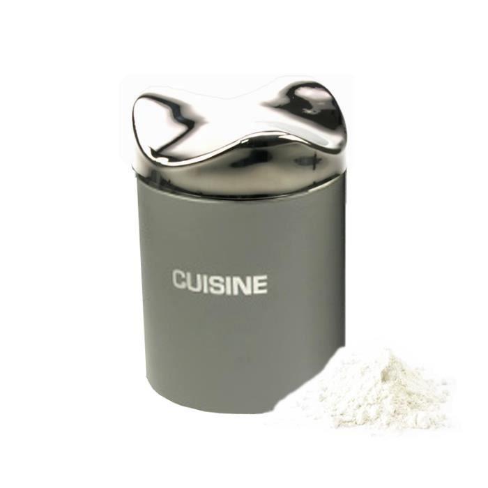 Bo te de cuisine moderne inox gris couvercl achat for Cuisine gris inox