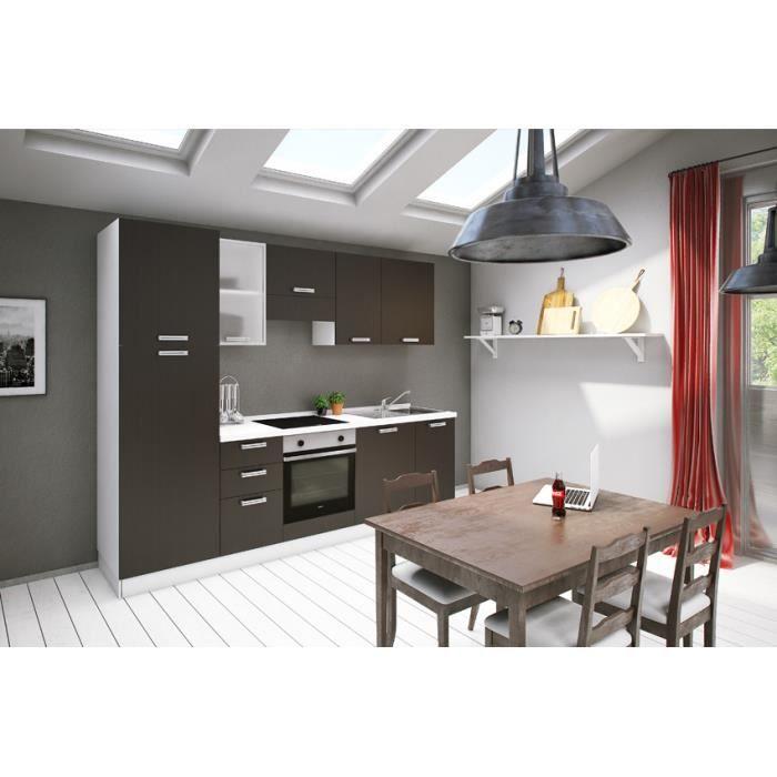 Tucana orme fonc e cuisine tout inclus 273 cm achat vente cuisine compl t - Cuisine avec electromenager inclus ...