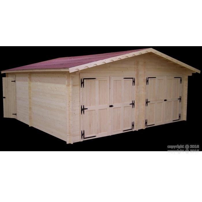Garage en bois x 38m2 achat vente abri for Epaisseur dalle garage