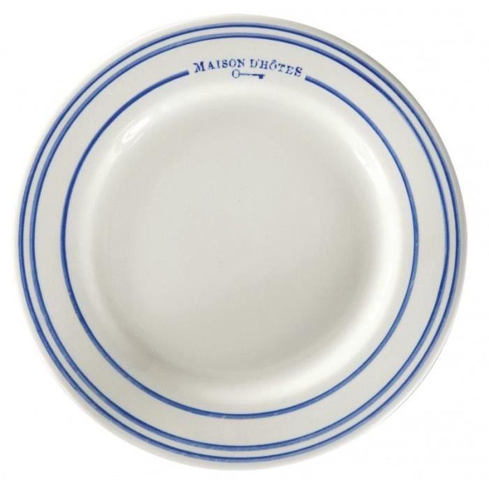 6 assiettes plates en faience achat vente assiette for Achat faience