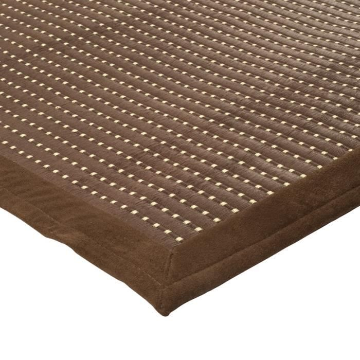 tapis wood 160x230 marron achat vente tapis cdiscount. Black Bedroom Furniture Sets. Home Design Ideas