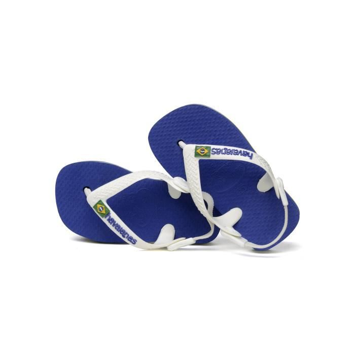 tongs enfant havaianas logo bleu bleu bleu achat vente tong cdiscount. Black Bedroom Furniture Sets. Home Design Ideas