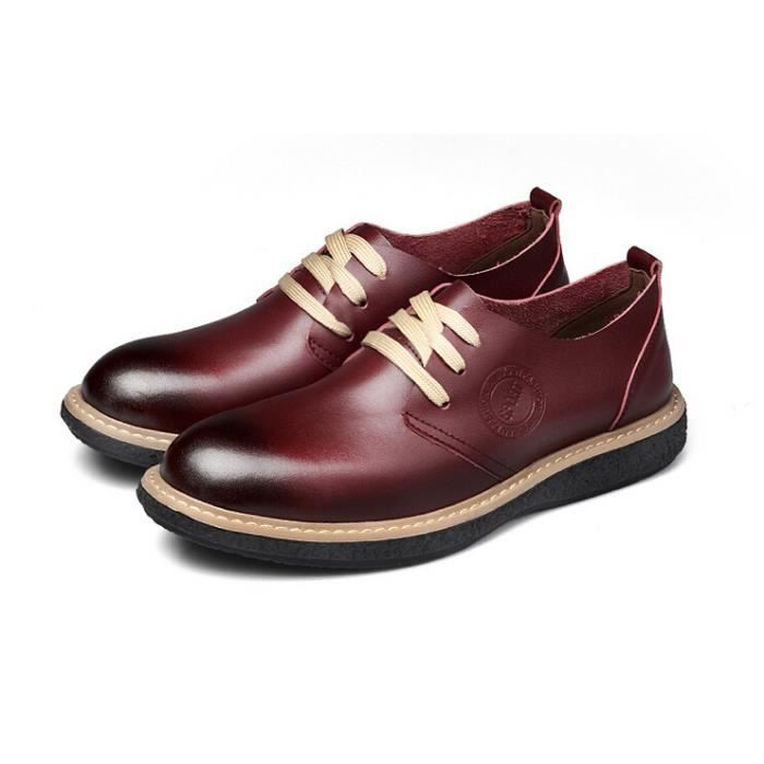homme cuir mocassin chaussures business formel rouge achat vente mocassin homme cuir. Black Bedroom Furniture Sets. Home Design Ideas