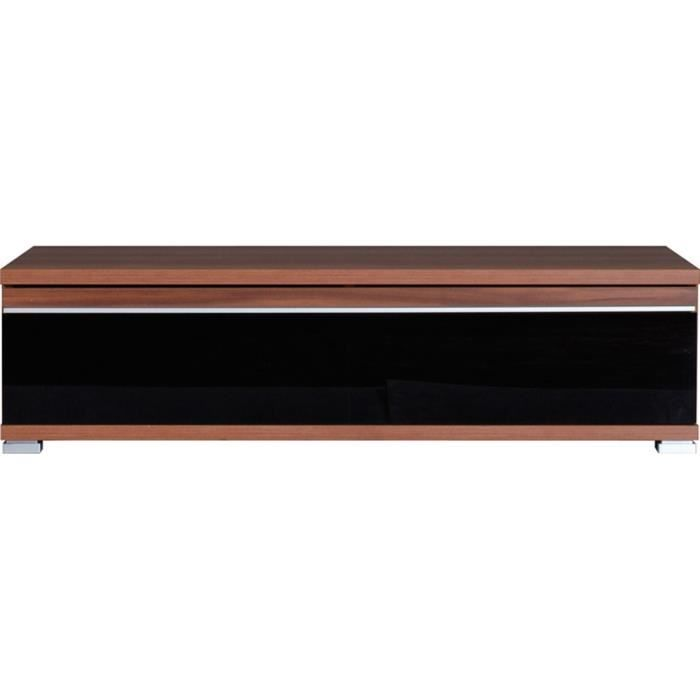 tv l ment bas noyer am ricain repro noir 98 x achat vente meuble tv tv l ment bas. Black Bedroom Furniture Sets. Home Design Ideas