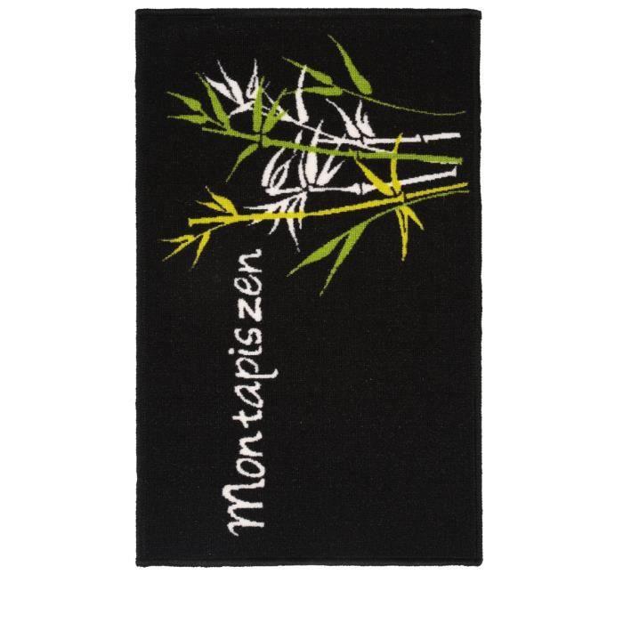 Tapis de cuisine imprim bambou achat vente tapis de for Tapis de cuisine absorbant