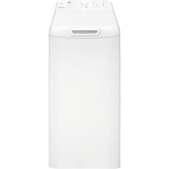 vedette vlt1105 lave linge top 5 5kg vitesse essorage 1100 tours min classe a blanc. Black Bedroom Furniture Sets. Home Design Ideas