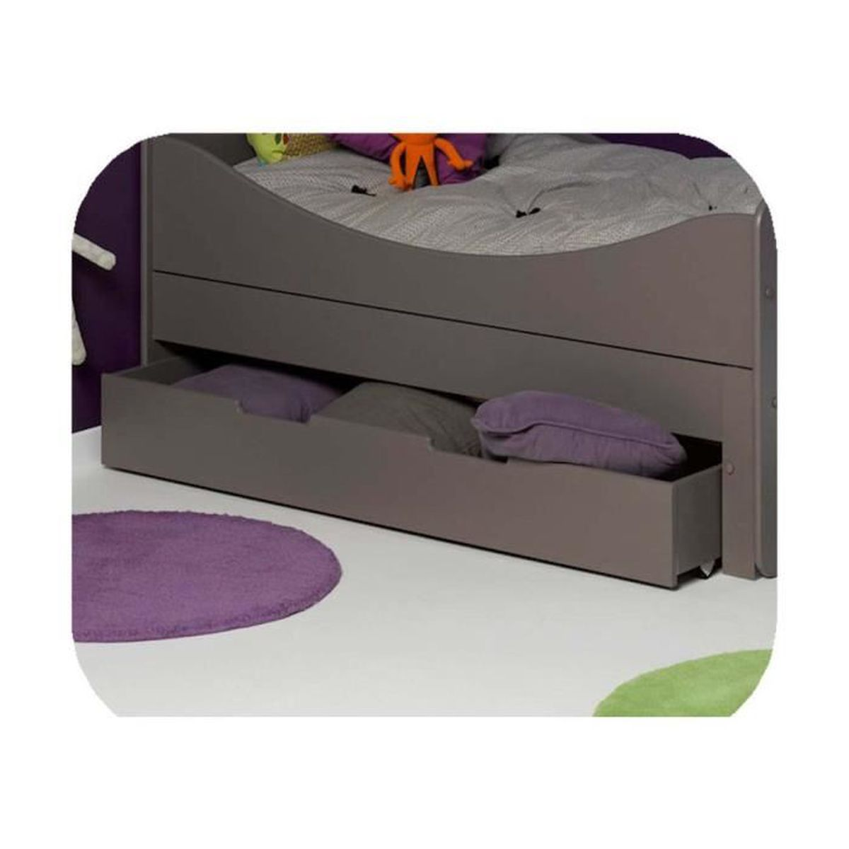 tiroir pour lit enfant evolutif eden 90x140 cm taupe. Black Bedroom Furniture Sets. Home Design Ideas