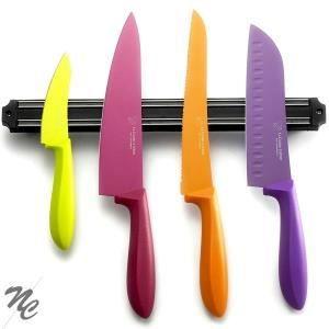 BLOC COUTEAU - MALLETTE Set 4 couteaux de cusine et barre aimantée  Albert