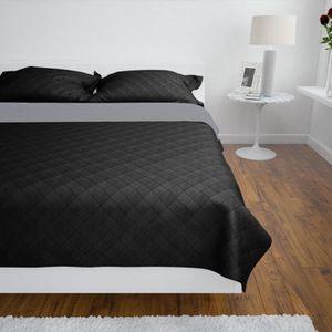 couvre lit boutis 220 x 240 gris achat vente couvre lit boutis 220 x 240 gris pas cher. Black Bedroom Furniture Sets. Home Design Ideas