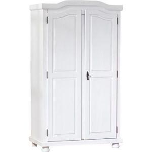 armoire bois massif blanc achat vente armoire bois. Black Bedroom Furniture Sets. Home Design Ideas