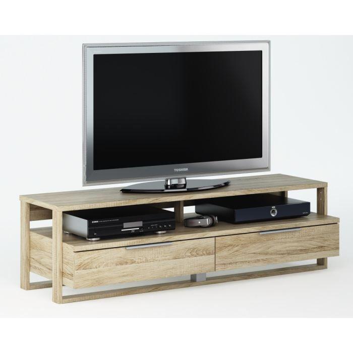 Zenith banc tv 145cm coloris ch ne bross achat vente for Banc de television