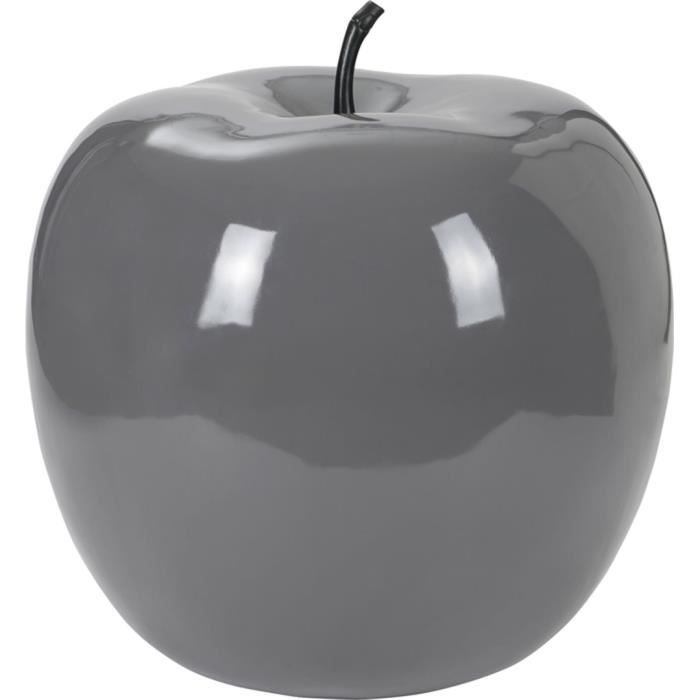 pomme d co design xxl gris achat vente objet d coratif