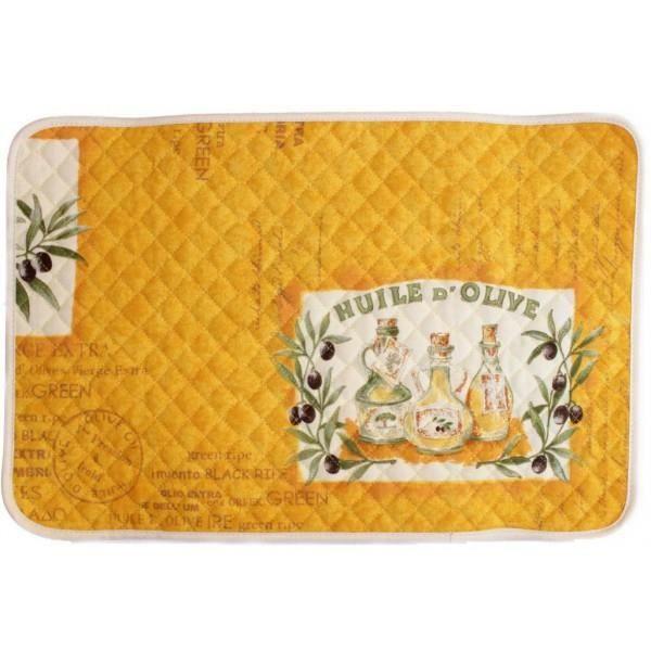 Set de table patch olive jaune achat vente set de for Set de table jaune