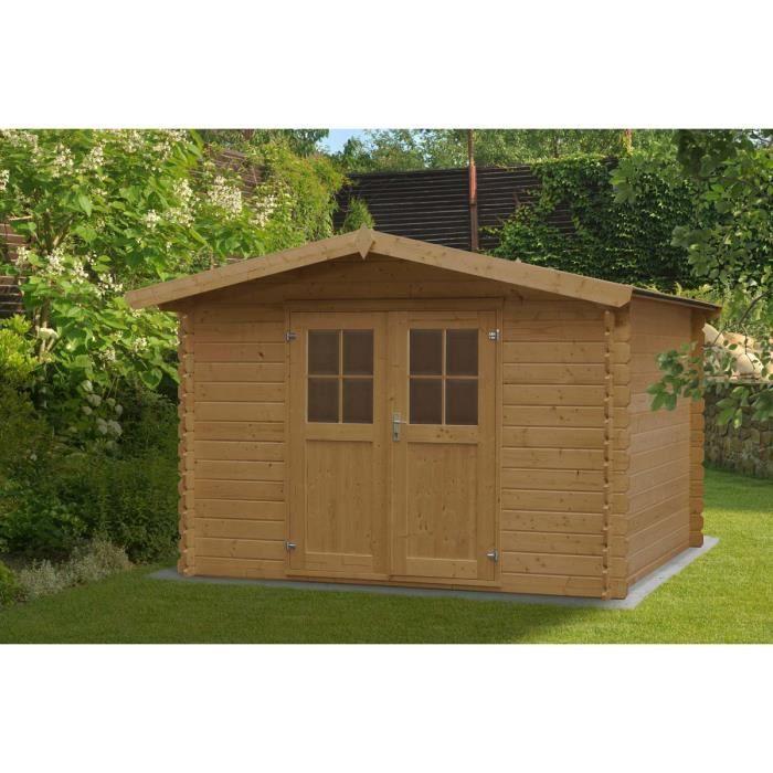 Abri de jardin en bois vercors achat vente abri jardin chalet abri de jardin en bois for Abri de jardin quelle epaisseur