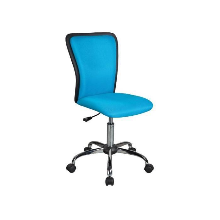 Justhome q 099 chaise fauteuil de bureau bleu 82 94 x 42 for Chaise de bureau bleu