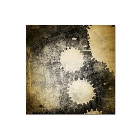 Tableau abstrait golden 80x80 cm achat vente tableau toile cdiscount - Vente tableau abstrait ...