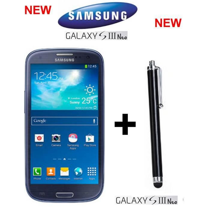 samsung galaxy s3 neo i9301 bleu stylet new achat. Black Bedroom Furniture Sets. Home Design Ideas