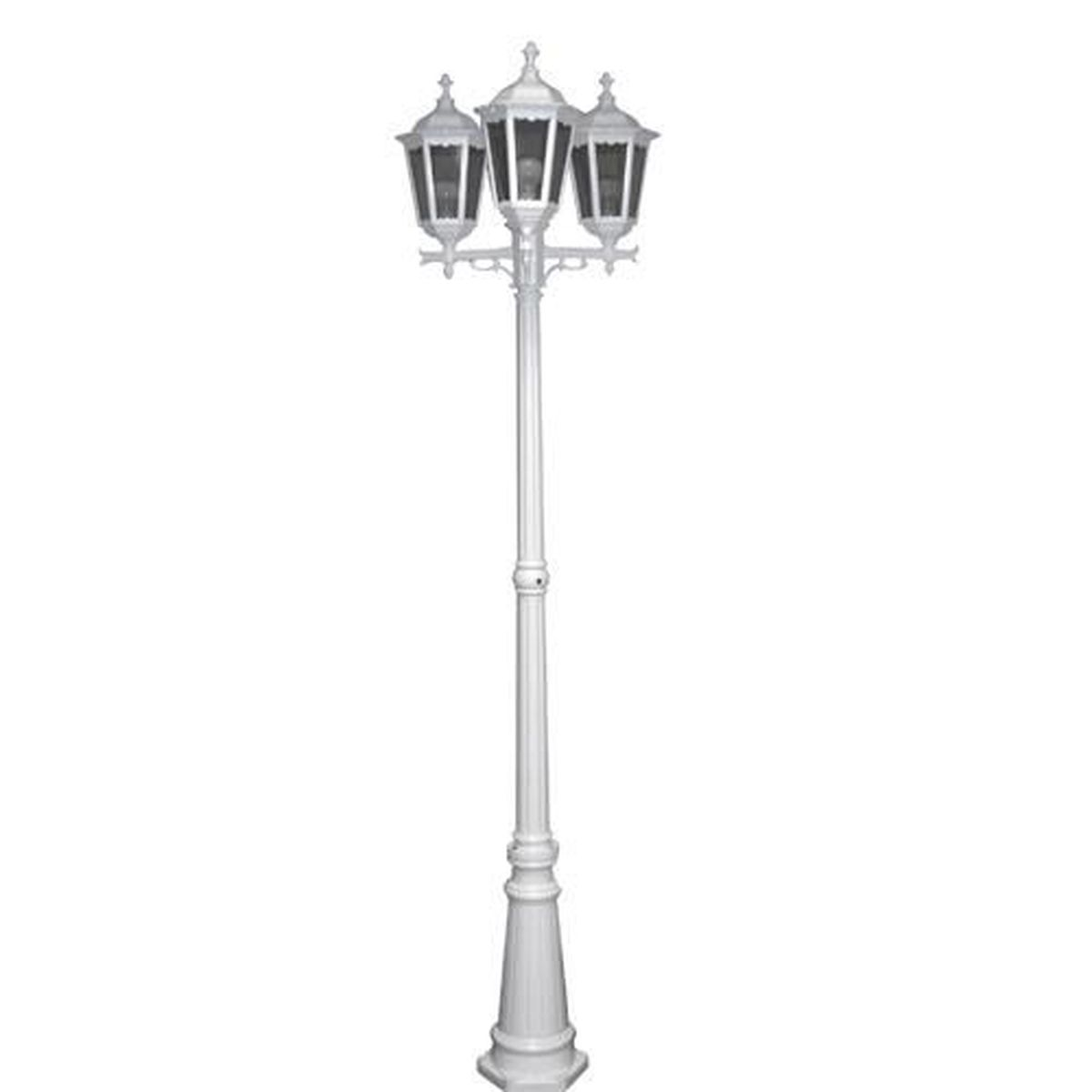 lampadaire d 39 ext rieur blanc 100 w lisa 2592 achat vente lampadaire d 39 ext rieur blan. Black Bedroom Furniture Sets. Home Design Ideas