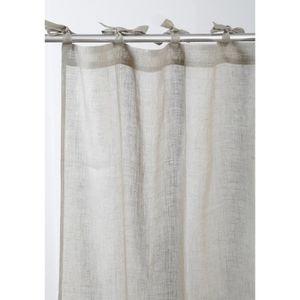 rideau blanc a nouette achat vente rideau blanc a nouette pas cher cdiscount. Black Bedroom Furniture Sets. Home Design Ideas