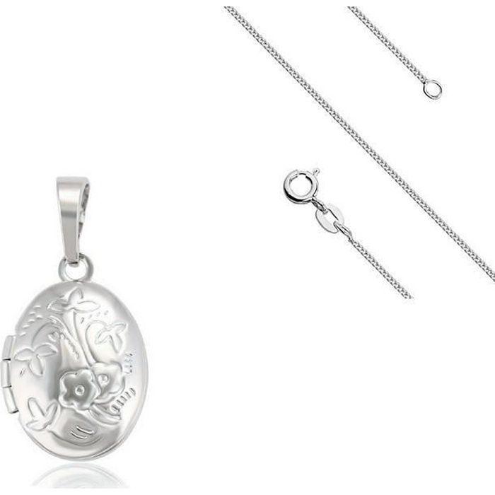 Cha ne pendentif porte photo ovale argent 925 achat vente sautoir et collier cha ne - Pendentif porte photo argent ...
