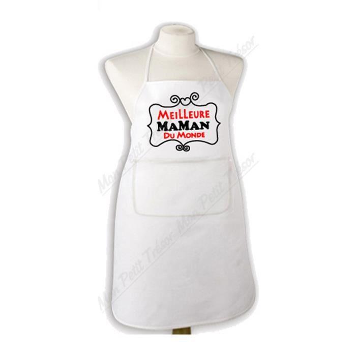 Tablier de cuisine meilleure maman du monde achat vente tablier de cuisine cdiscount - Meilleures cuisines du monde ...