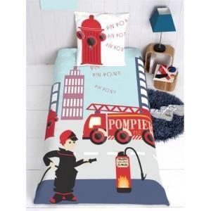 housse de couette enfant pompier achat vente housse. Black Bedroom Furniture Sets. Home Design Ideas