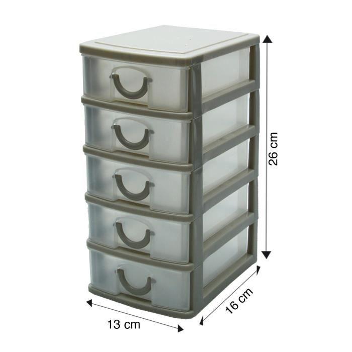 bloc de rangement 5 tiroirs marron achat vente. Black Bedroom Furniture Sets. Home Design Ideas