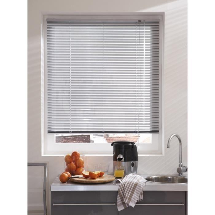 store v nitien micro perfor aluminium gris achat vente store de fen tre aluminium cdiscount. Black Bedroom Furniture Sets. Home Design Ideas