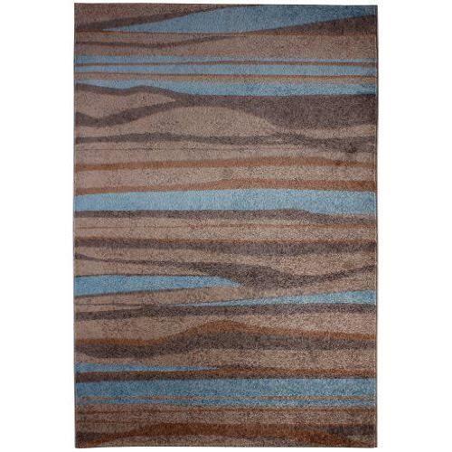 Andiamo 1100251 chadler tapis tuft poils ras beige bleu for Tapis gris clair poil ras