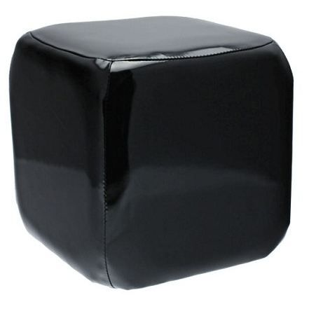 pouf cubique en forme de de a jouer uni achat vente. Black Bedroom Furniture Sets. Home Design Ideas