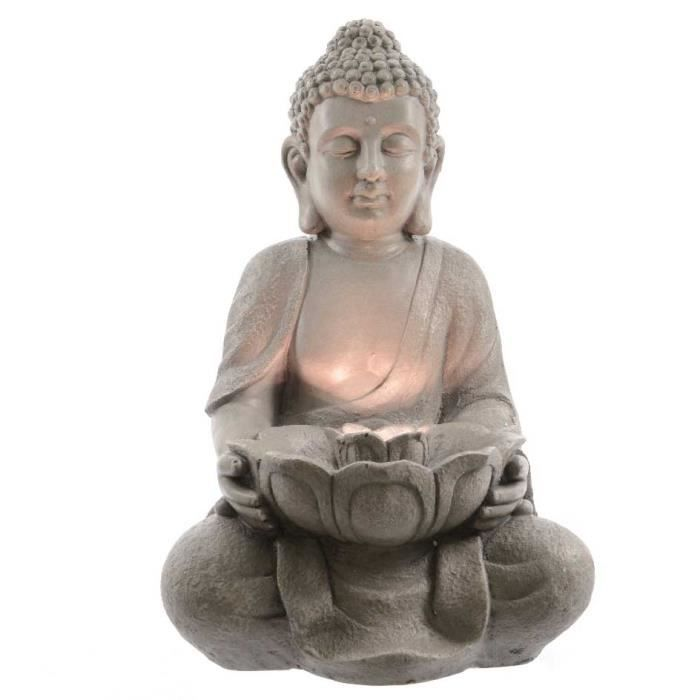 Fontaine de jardin bouddha assis 45 cm gris achat vente fontaine de jardi - Fontaine de jardin bouddha ...