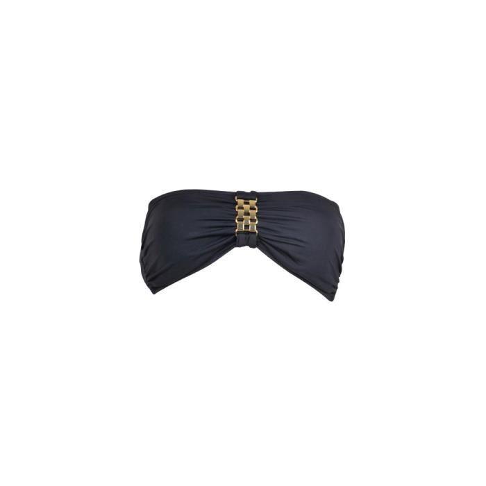 Maillot bandeau noir Michael Kors Se clipse dans le dos Bijoux