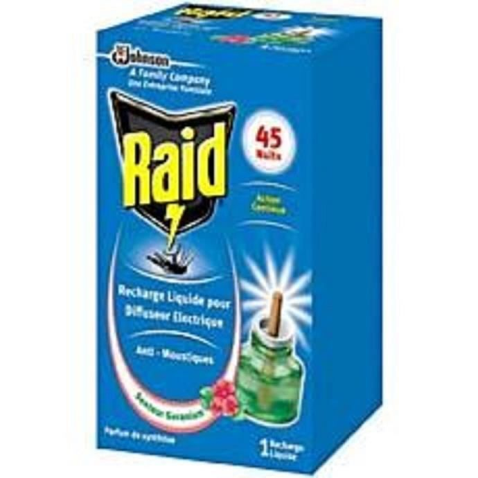 Raid diffuseur lectrique 45 nuits 1 recharge achat vente insecticide recharge liquide - Prise anti moustique raid ...