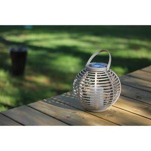 MUNDUS Lanterne en plastique ?22,5 x H20 cm - Taupe