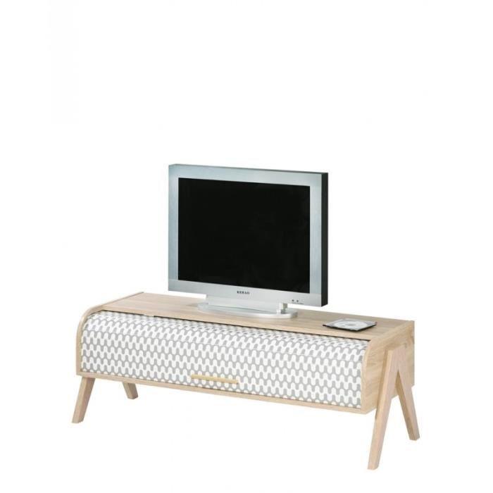 meuble tv vintage rideau vagues coloris des pieds pieds coloris ch ne achat vente meuble. Black Bedroom Furniture Sets. Home Design Ideas