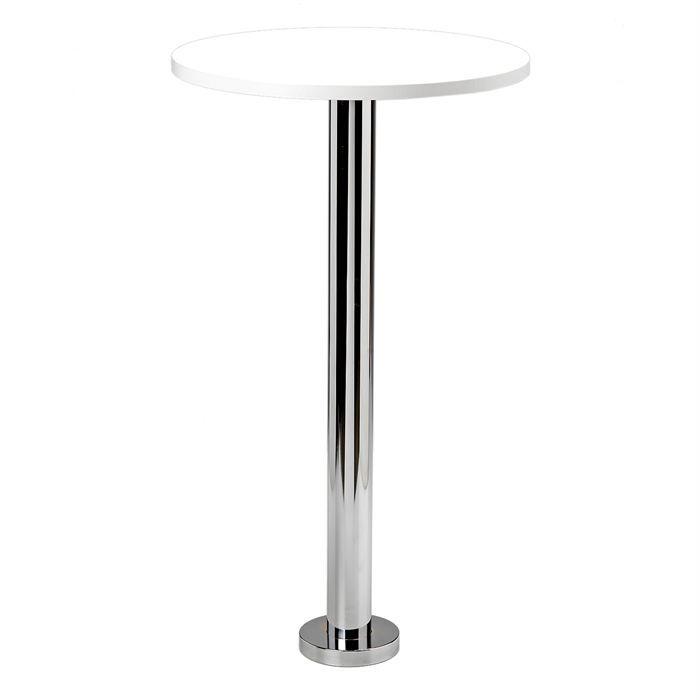 Table Haute Gum Fixation Plateau Werzalit Blanc Achat Vente Mange Debout Table Haute Cdiscount