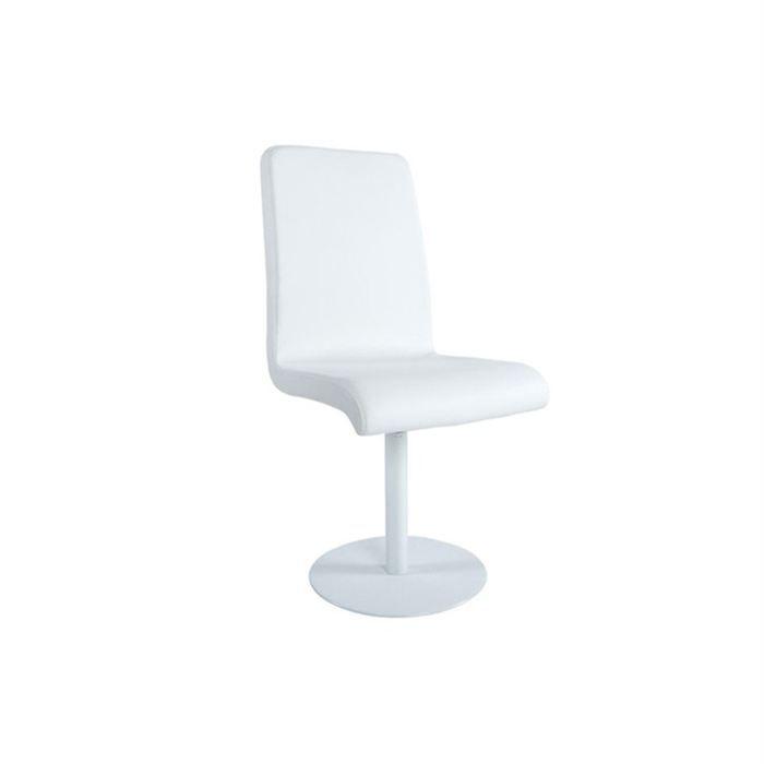 chaise design dallas blanc achat vente chaise pu cuir. Black Bedroom Furniture Sets. Home Design Ideas