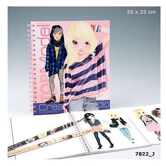 Top model album de coloriage styliste achat vente - Album de coloriage top model ...